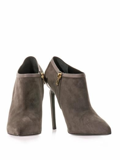 Saint Laurent Paris point-toe ankle boots