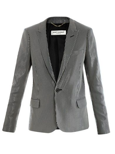 Saint Laurent Stripe-print lurex blazer