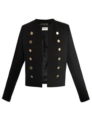 Double-button cropped jacket