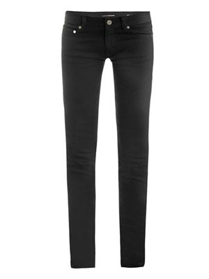 Low-rise super-skinny jeans