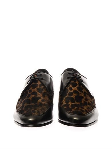 Saint Laurent Blake calf-hair and leather shoes