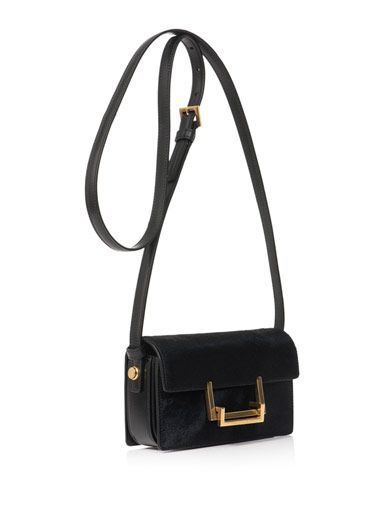 Saint Laurent Lulu calf-hair cross-body bag