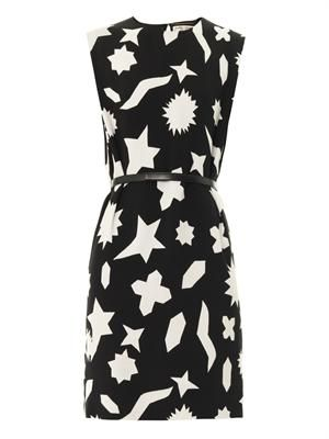 Graphic-print shift dress