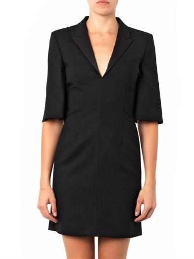 Saint Laurent Tuxedo wool-crepe dress