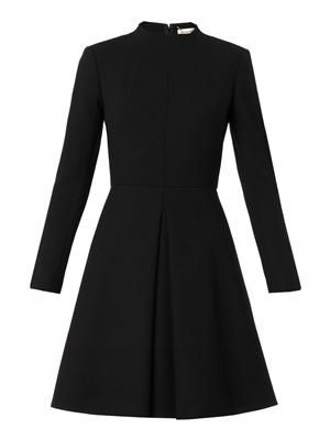 Robe wool-crepe dress