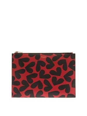 Big Hearts leather pouch