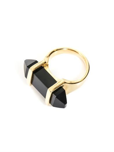 Saint Laurent Clou onyx punk ring