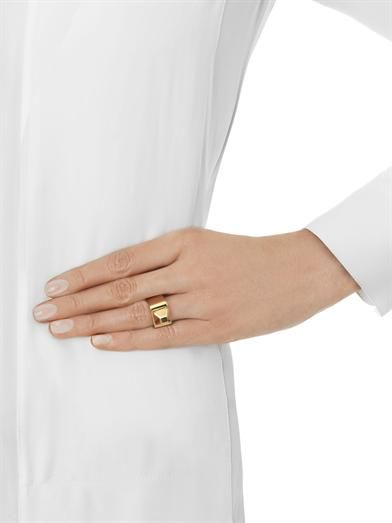 Saint Laurent Clou pyramid stud ring