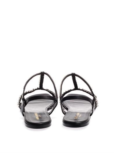 Saint Laurent Alice pearl and chain sandals
