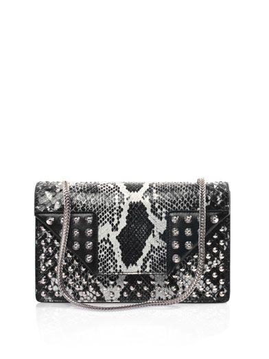 Saint Laurent Betty python skin studded shoulder bag