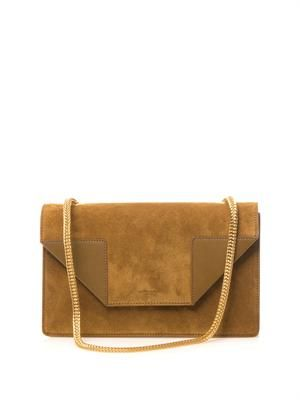 Betty suede shoulder bag
