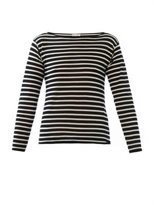 Fine knit Breton stripe sweater