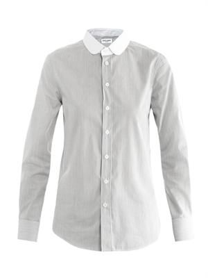 Peter-pan collar stripe shirt