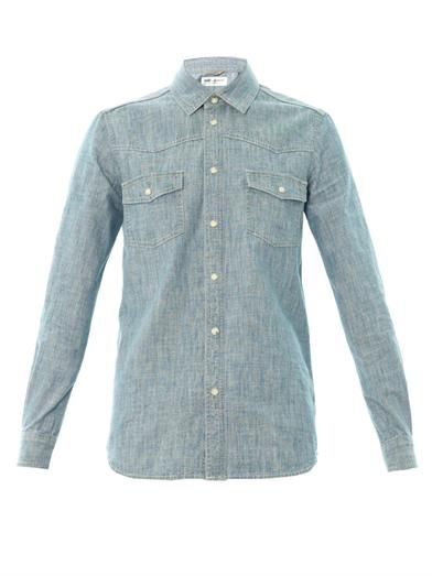 Saint Laurent Blue chambray shirt