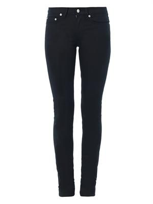 Zip pocket mid-rise skinny jeans