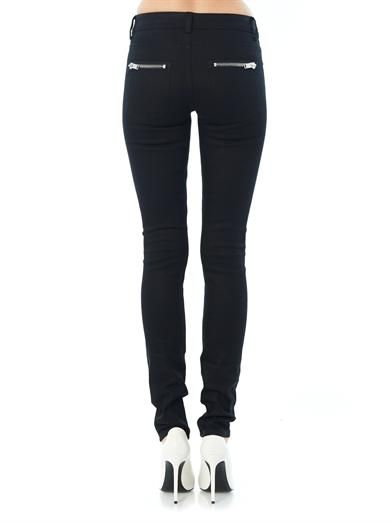 Saint Laurent Zip pocket mid-rise skinny jeans