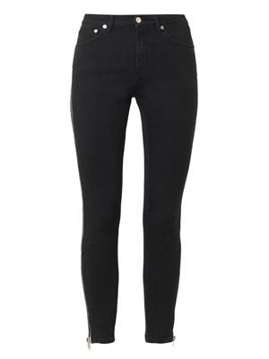 Zipped-seam high-rise skinny jeans