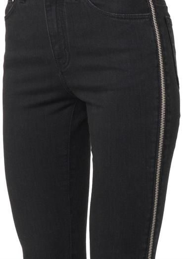 Saint Laurent Zipped-seam high-rise skinny jeans