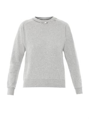 Zip jersey sweater