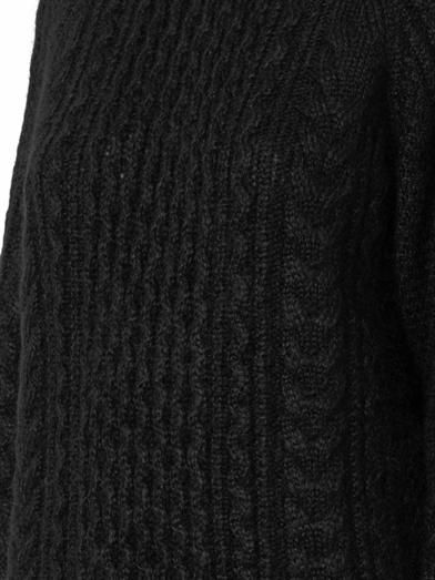 Saint Laurent Cable-knit mohair-blend sweater