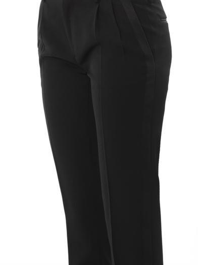 Saint Laurent Grain de poudre wool tailored trousers
