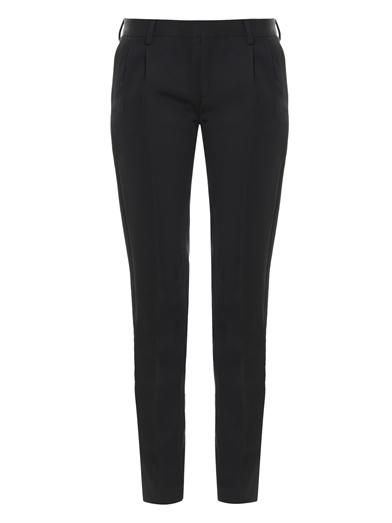 Saint Laurent Grain de poudre wool tailored trousers