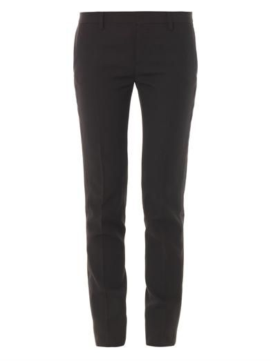 Saint Laurent Satin-stripe wool trousers
