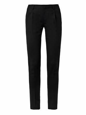 Velvet-stripe tuxedo trousers