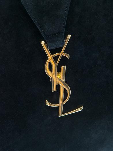Saint Laurent Classic monogram suede tote