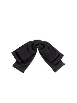 Layered satin bow tie