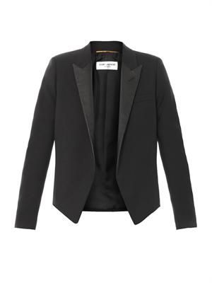 Spencer leather lapel jacket