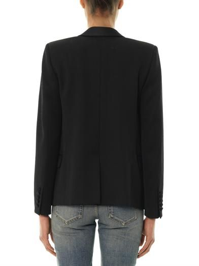 Saint Laurent Grain de Poudre shawl-lapel blazer