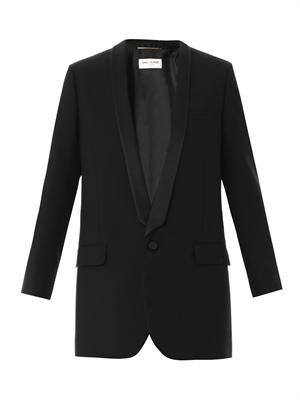 Tailored wool-gabardine jacket