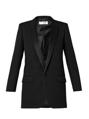 Single-breasted tuxedo jacket