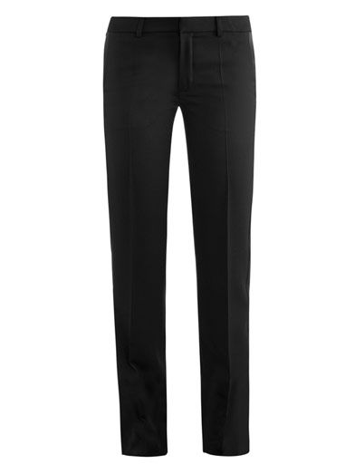 Saint Laurent Grain de Pourder fitted trousers