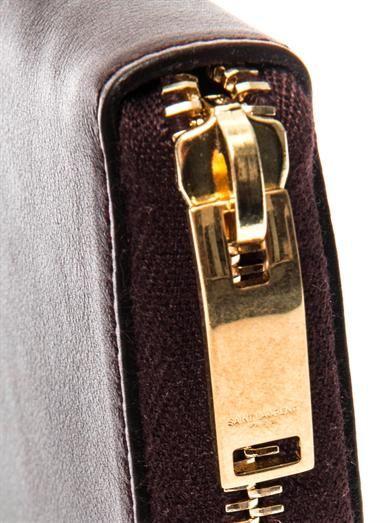Saint Laurent Paris zip-around leather wallet