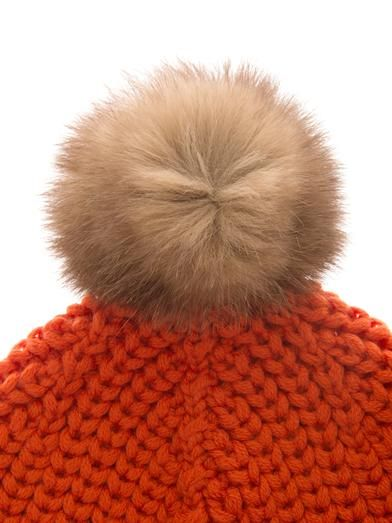 Woolrich John Rich & Bros Serenity fur-pompom wool-knit beanie