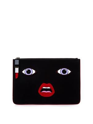 Face leather clutch