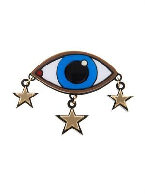 Eye and stars brooch