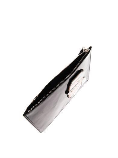 Yazbukey Karl leather clutch