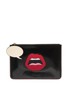 C'est Ahh leather clutch