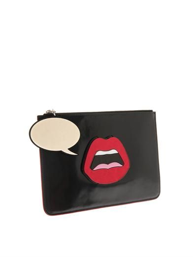 Yazbukey C'est Ahh leather clutch