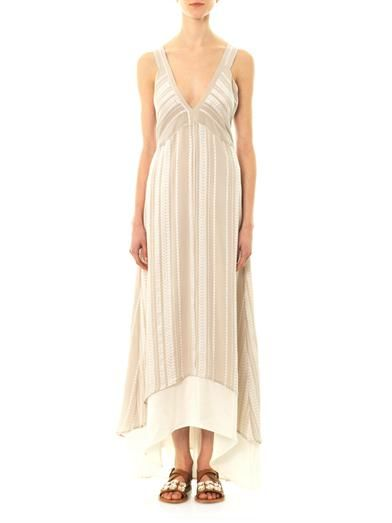 Zeus + Dione Medea panelled silk dress