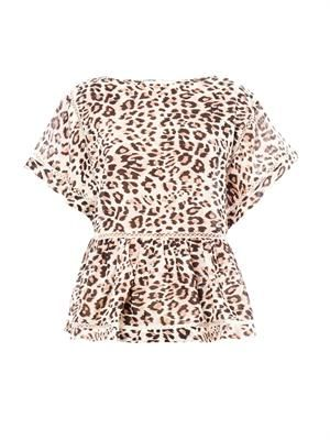 Writer leopard-print top