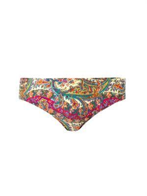 Wide link paisley-print bikini briefs