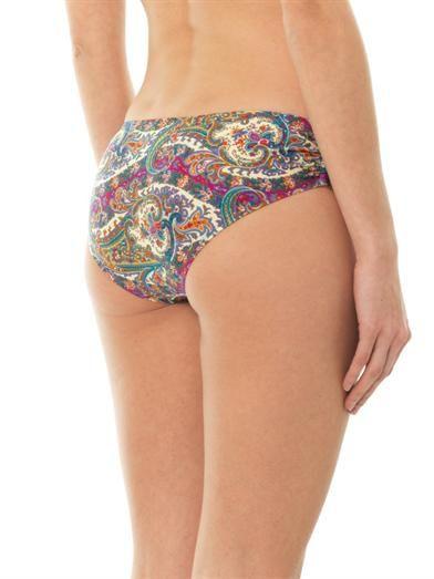Zimmermann Wide link paisley-print bikini briefs
