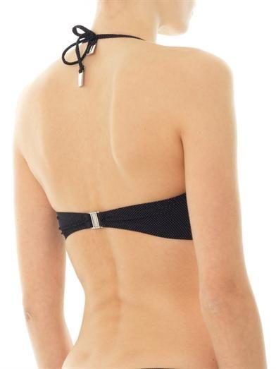 Zimmermann Dot-print bandeau bikini top