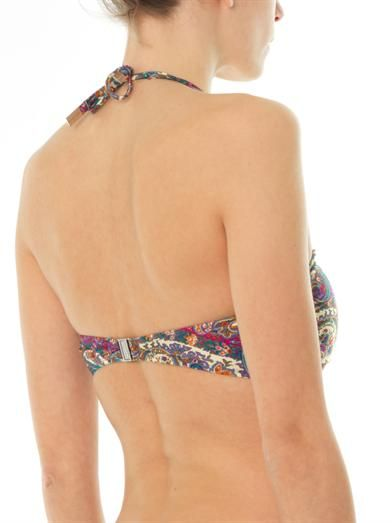 Zimmermann Paisley-print bandeau bikini top