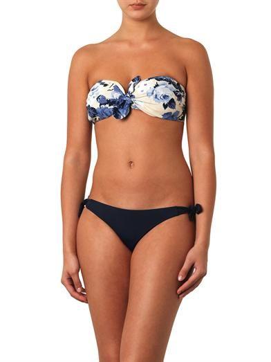 Zimmermann Hydra floral-print bandeau bikini