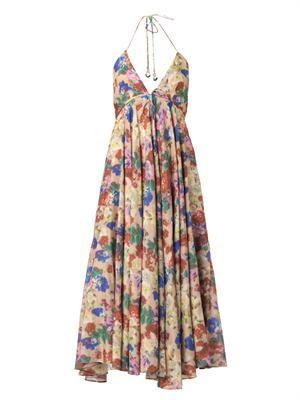 Haze floral-print dress